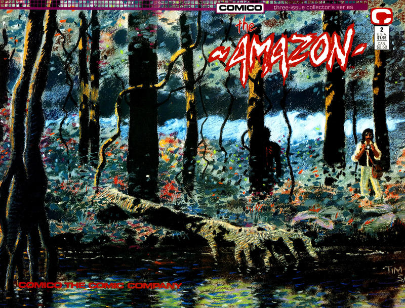 Cover for The Amazon (Comico, 1989 series) #2
