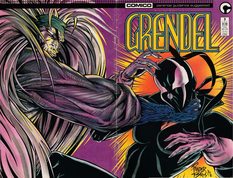 Cover for Grendel (Comico, 1986 series) #3 [Direct]