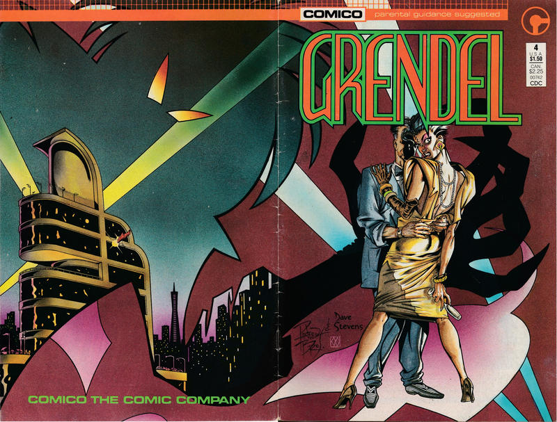 Cover for Grendel (Comico, 1986 series) #4 [Direct]