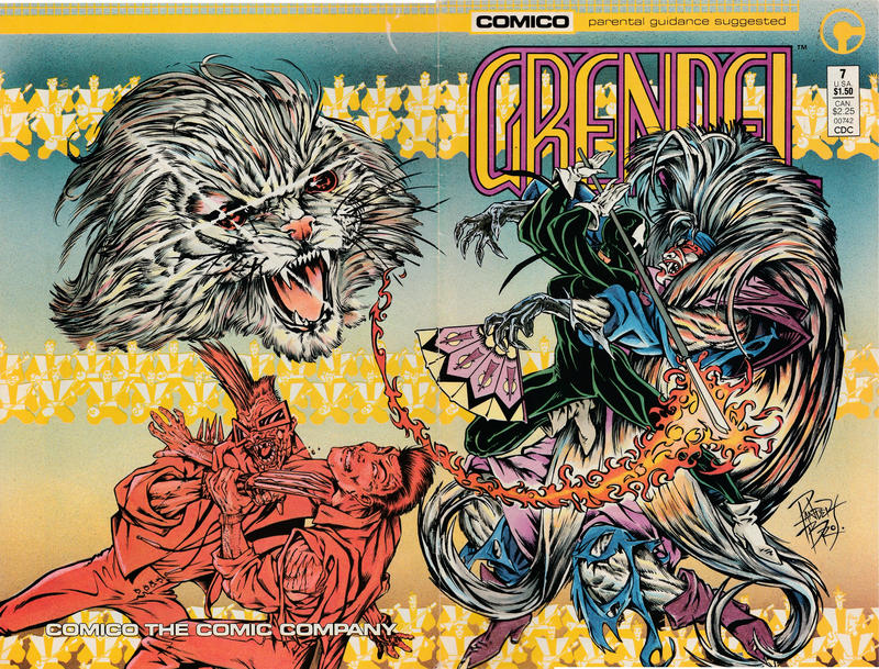 Cover for Grendel (Comico, 1986 series) #7 [Direct]