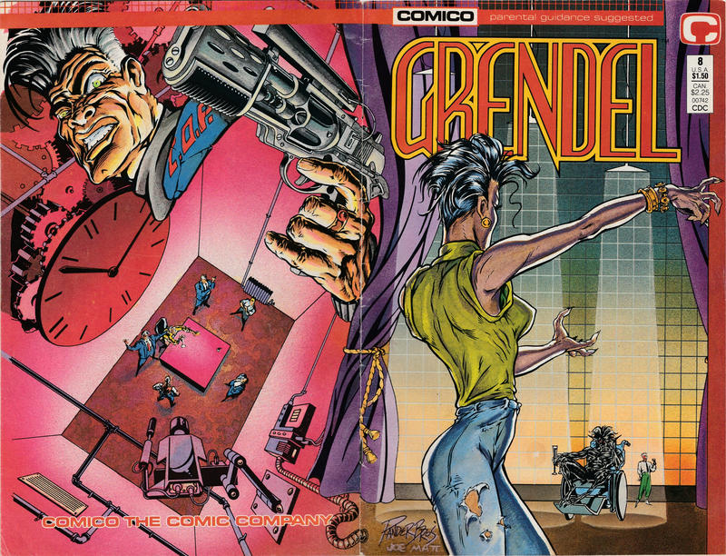Cover for Grendel (Comico, 1986 series) #8 [Direct]