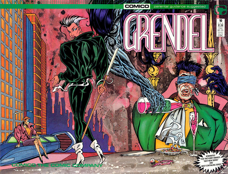 Cover for Grendel (Comico, 1986 series) #10 [Newsstand]