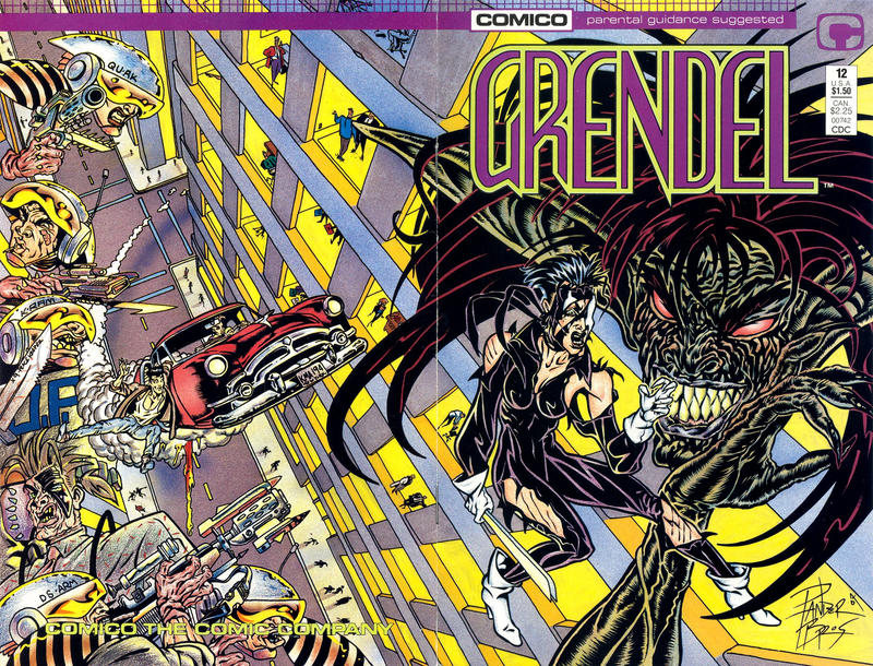 Cover for Grendel (Comico, 1986 series) #12 [Direct]