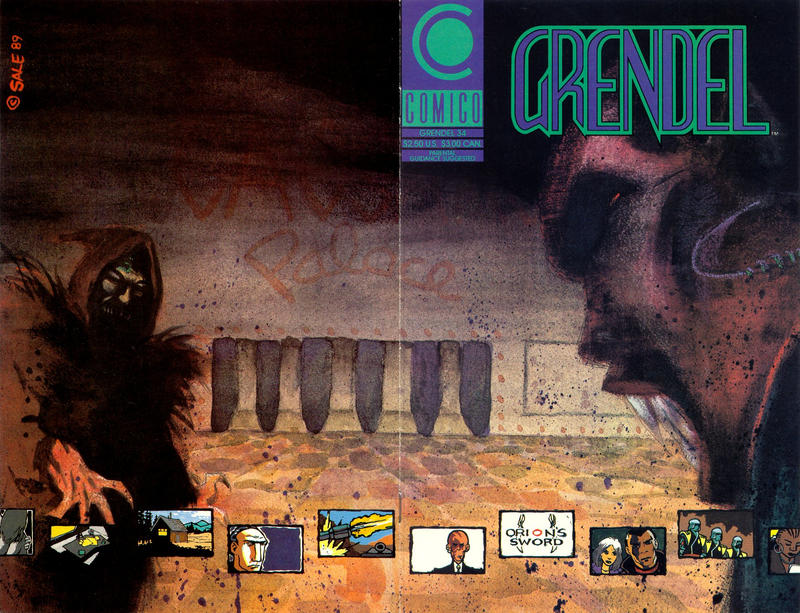 Cover for Grendel (Comico, 1986 series) #34