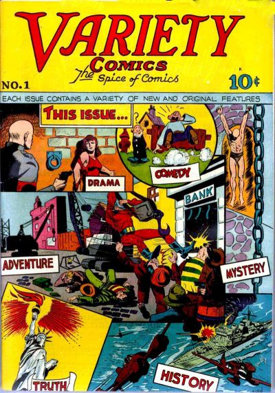 Cover for Variety Comics (Croydon Publishing Co., 1944 series) #1