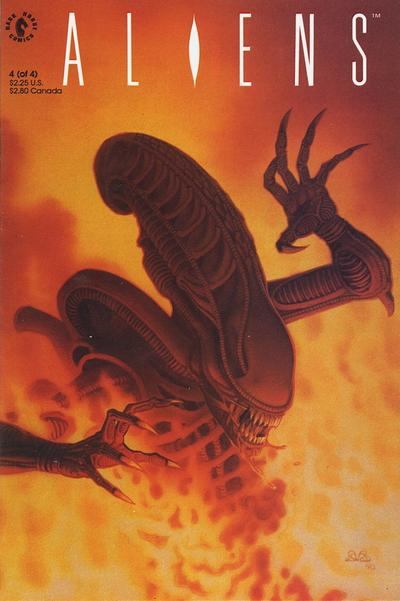Cover for Aliens (Dark Horse, 1989 series) #4