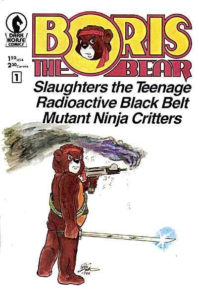 Cover for Boris the Bear (Dark Horse, 1986 series) #1 [2nd Print]