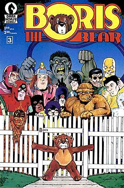 Cover for Boris the Bear (Dark Horse, 1986 series) #3