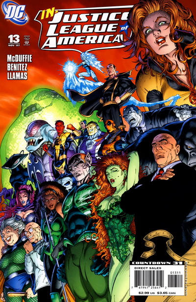Cover for Justice League of America (DC, 2006 series) #13 [Cover B]