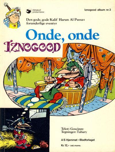 Cover for Iznogood (Hjemmet / Egmont, 1977 series) #2 - Onde, onde Iznogood