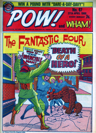 Cover for Pow! and Wham! (IPC, 1968 series) #67