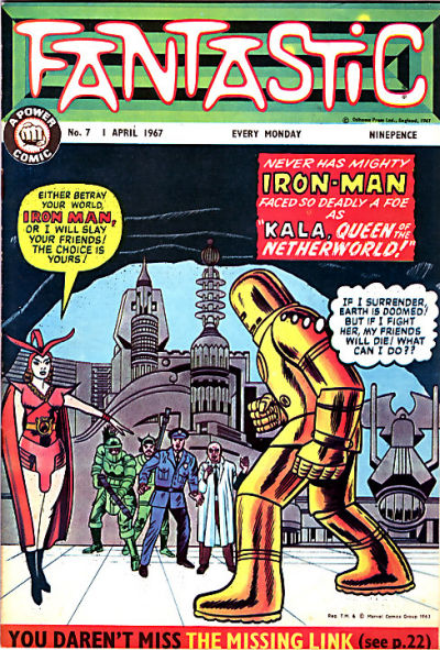 Cover for Fantastic! (IPC, 1967 series) #7