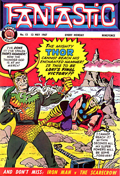 Cover for Fantastic! (IPC, 1967 series) #13