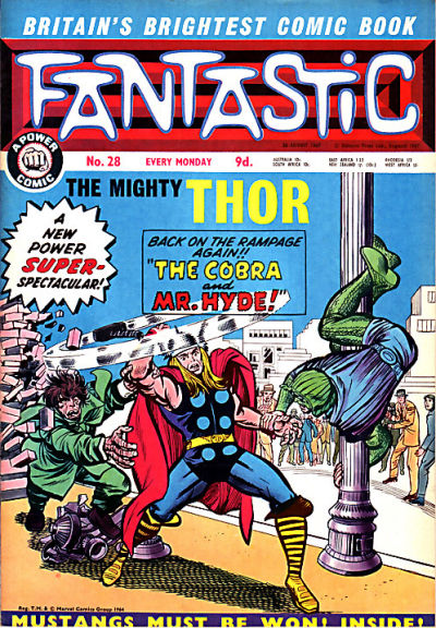 Cover for Fantastic! (IPC, 1967 series) #28