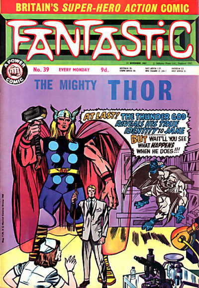 Cover for Fantastic! (IPC, 1967 series) #39