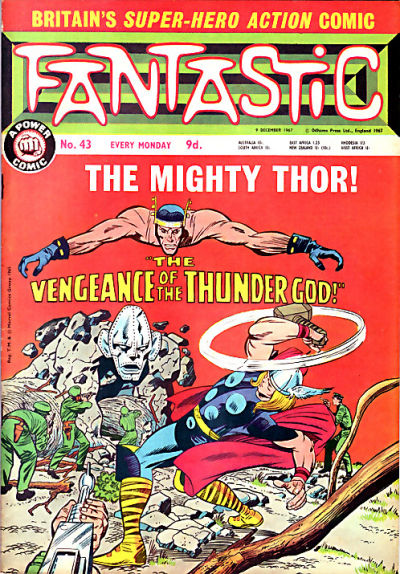 Cover for Fantastic! (IPC, 1967 series) #43