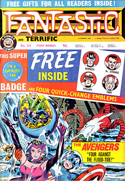Cover for Fantastic! (IPC, 1967 series) #54