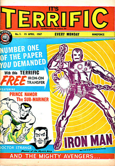Cover for Terrific! (IPC, 1967 series) #1