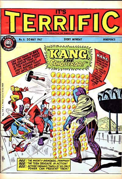 Cover for Terrific! (IPC, 1967 series) #6