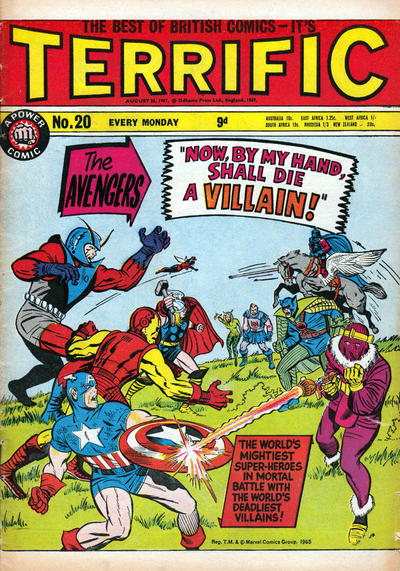 Cover for Terrific! (IPC, 1967 series) #20