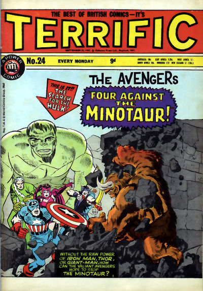 Cover for Terrific! (IPC, 1967 series) #24