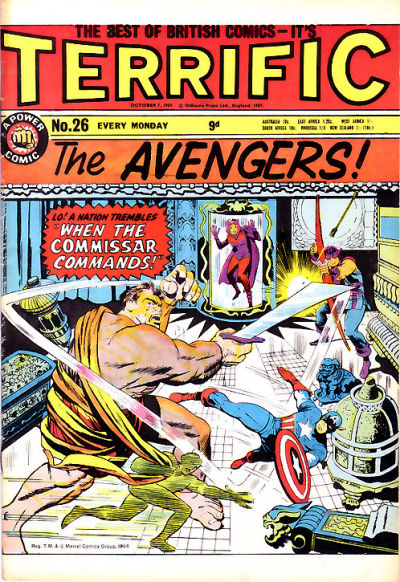 Cover for Terrific! (IPC, 1967 series) #26