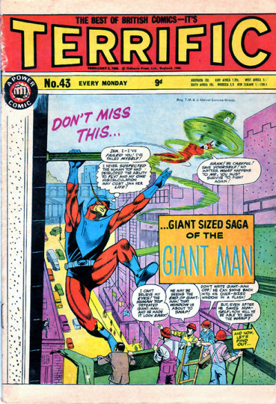 Cover for Terrific! (IPC, 1967 series) #43