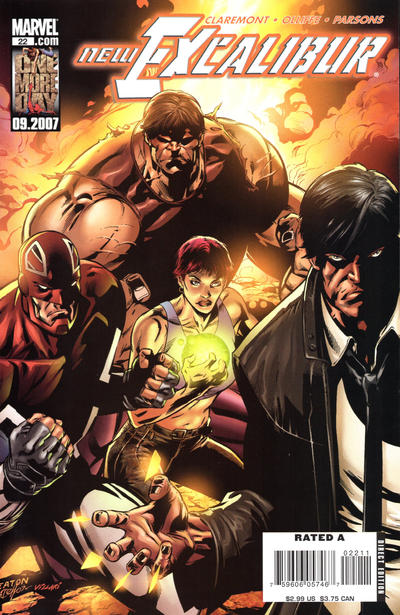 Cover for New Excalibur (Marvel, 2006 series) #22 [Direct Edition]