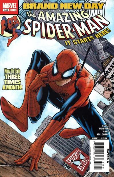 Cover for The Amazing Spider-Man (Marvel, 1999 series) #546 [2nd Print Variant]