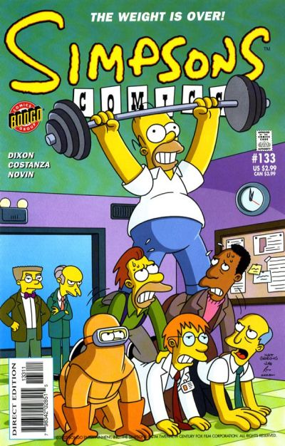 Cover for Simpsons Comics (Bongo, 1993 series) #133