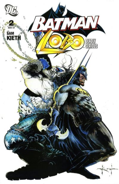 Cover for Batman / Lobo: Deadly Serious (DC, 2007 series) #2