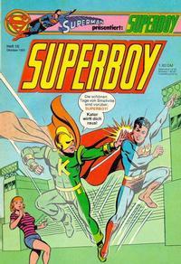 Cover Thumbnail for Superboy (Egmont Ehapa, 1980 series) #10/1981