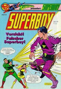 Cover Thumbnail for Superboy (Egmont Ehapa, 1980 series) #34