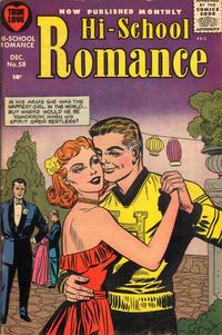 Cover Thumbnail for Hi-School Romance (Harvey, 1949 series) #58