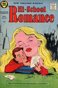 Cover Thumbnail for Hi-School Romance (Harvey, 1949 series) #67