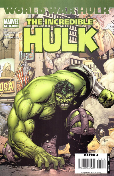 Cover for Incredible Hulk (Marvel, 2000 series) #110