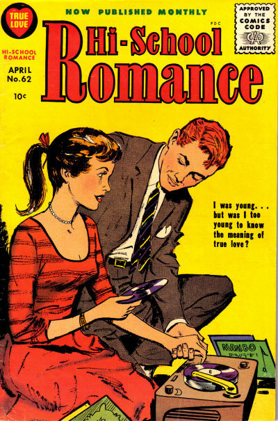 Cover for Hi-School Romance (Harvey, 1949 series) #62