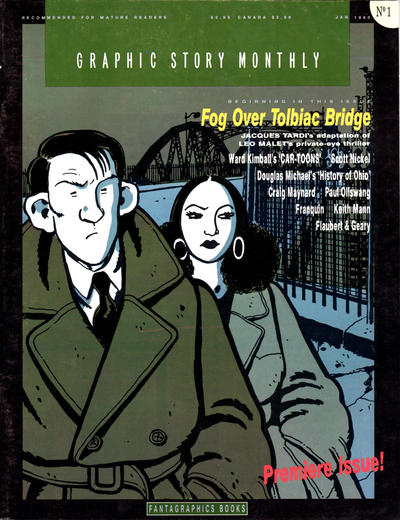 Cover for Graphic Story Monthly (Fantagraphics, 1989 series) #1