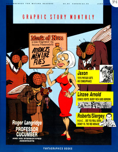 Cover for Graphic Story Monthly (Fantagraphics, 1989 series) #6