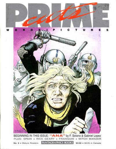 Cover for Prime Cuts (Fantagraphics, 1986 series) #6