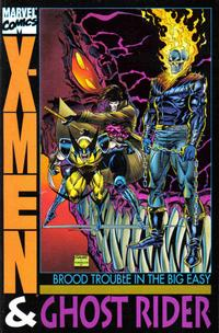 Cover Thumbnail for X-Men & Ghost Rider: Brood Trouble In the Big Easy (Marvel, 1993 series)