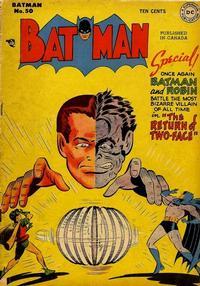 Cover Thumbnail for Batman (National Comics Publications of Canada Ltd, 1948 series) #50
