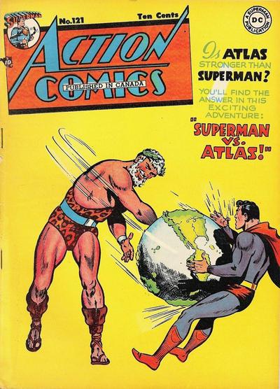 Cover for Action Comics (National Comics Publications of Canada Ltd, 1948 series) #121