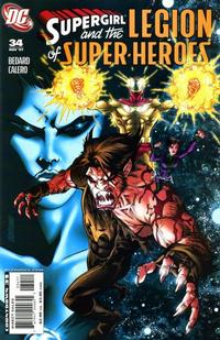 Cover for Supergirl and the Legion of Super-Heroes (DC, 2006 series) #34