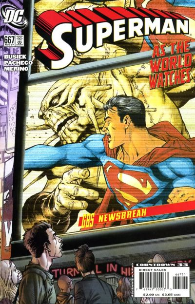 Cover for Superman (DC, 2006 series) #667