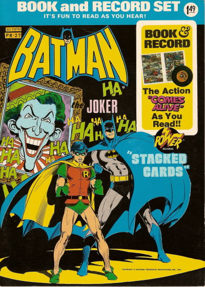 """Cover for Batman: """"Stacked Cards"""" [Book and Record Set] (Peter Pan, 1975 series) #PR27"""