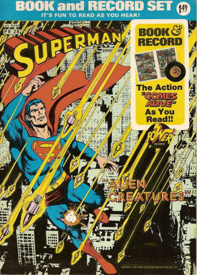 """Cover for Superman: """"Alien Creatures"""" [Book and Record Set] (Peter Pan, 1975 series) #PR28"""
