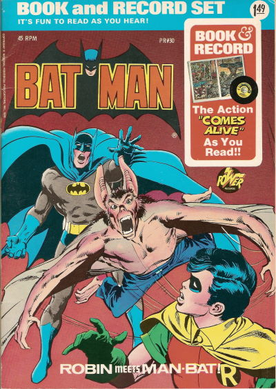 Cover for Batman: Robin Meets Man-Bat! [Book and Record Set] (Peter Pan, 1976 series) #PR30 [Power Records]