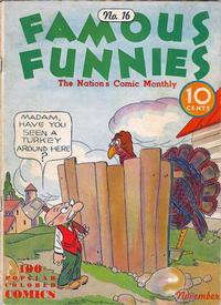 Cover Thumbnail for Famous Funnies (Eastern Color, 1934 series) #16