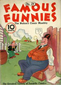 Cover Thumbnail for Famous Funnies (Eastern Color, 1934 series) #24